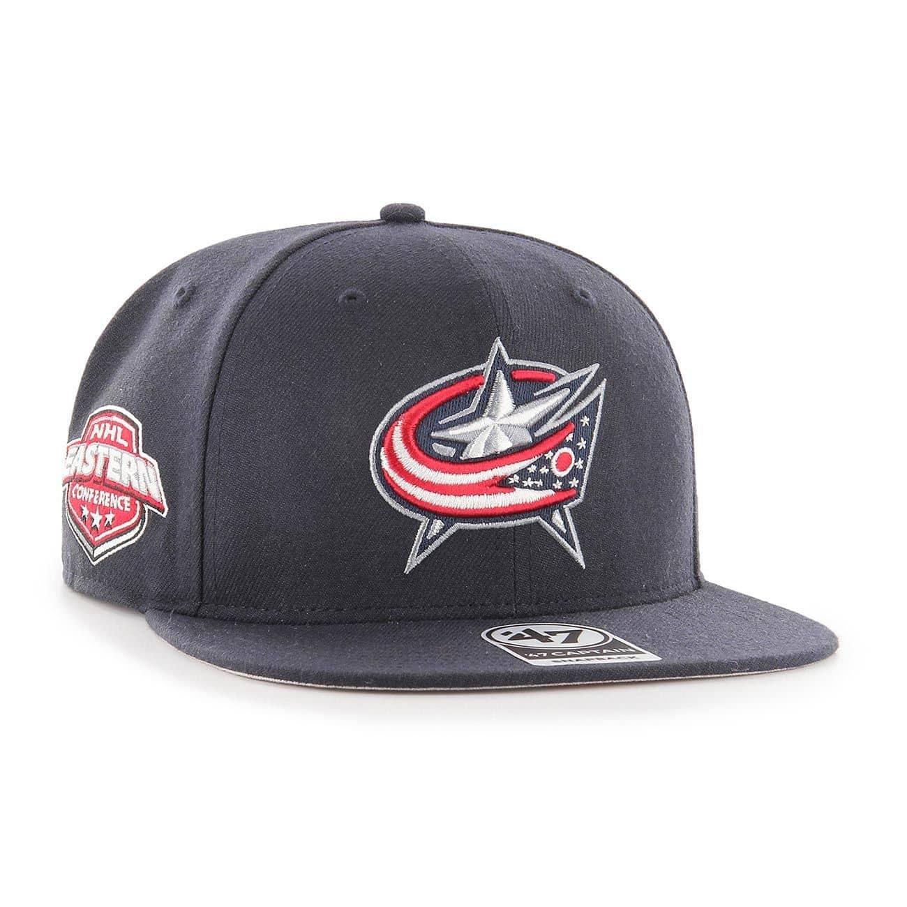 outlet store d9f1f b6480  47 Brand Columbus Blue Jackets Sure Shot Snapback NHL Cap Navy   TAASS.com  Fan Shop