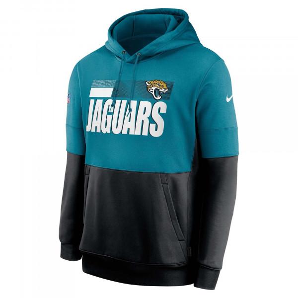 Jacksonville Jaguars 2020 NFL Sideline Lockup Nike Therma Hoodie