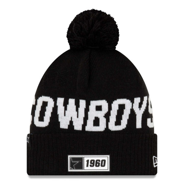 Dallas Cowboys Black 2019 NFL Sideline Sport Knit Wintermütze Road