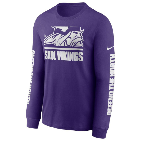 Minnesota Vikings Split Local Nike Long Sleeve Shirt Lila