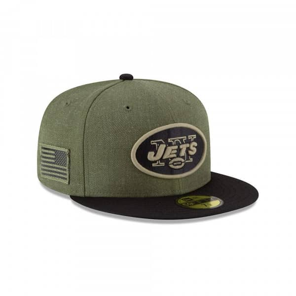 competitive price 0e7c3 ef8c2 New York Jets 2018 Salute to Service 59FIFTY NFL Cap