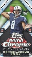 2015 Topps Mini Chrome Football Hobby Box NFL