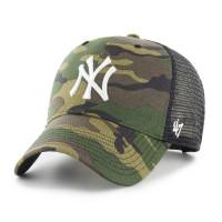 New York Yankees Camo Branson MLB Trucker Cap Alternate