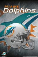 Miami Dolphins Helmet Football NFL Poster
