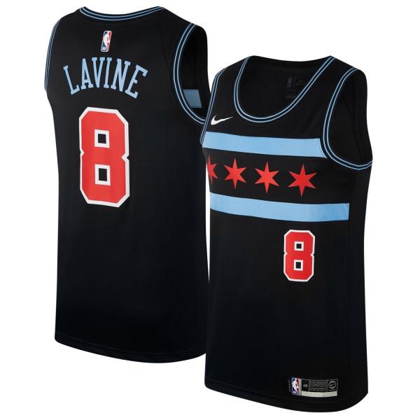 28e4929e1a2 Nike Zach LaVine #8 Chicago Bulls City Swingman NBA Jersey Black |  TAASS.com Fan Shop
