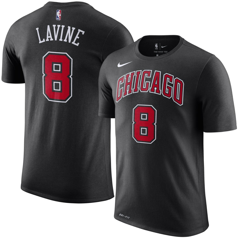 d5814fd41e5 Nike Zach LaVine  8 Chicago Bulls Player NBA T-Shirt Black