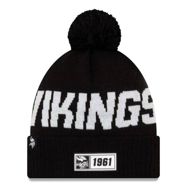 Minnesota Vikings Black 2019 NFL Sideline Sport Knit Wintermütze Road