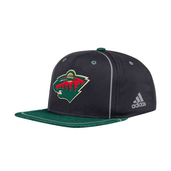 087dbdc0cac adidas Minnesota Wild Bravo Snapback NHL Cap