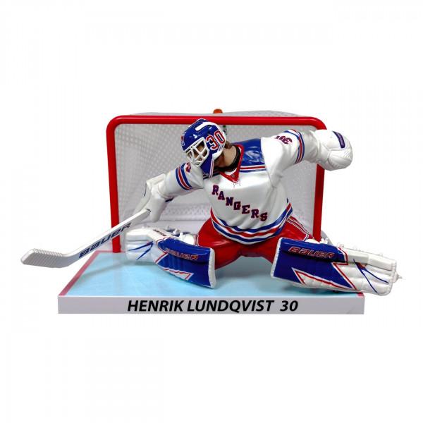 2017/18 Henrik Lundqvist New York Rangers NHL Figur mit Tor (16 cm)