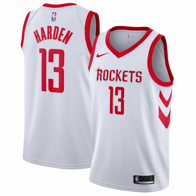 42f85fd9e37 Nike James Harden  13 Houston Rockets Association Swingman NBA Jersey White
