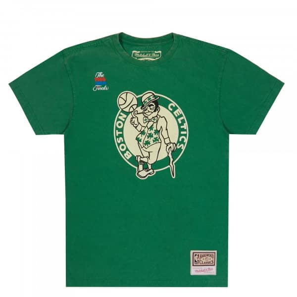 Boston Celtics Worn Logo Mitchell & Ness NBA T-Shirt Grün