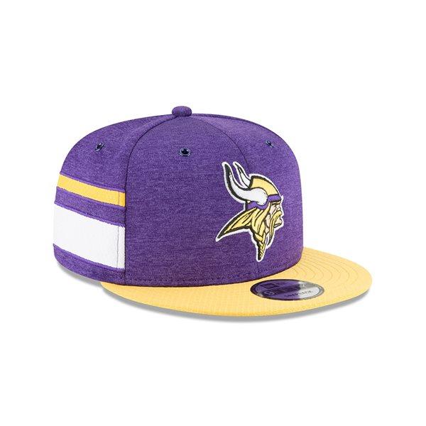 151e6d04 New Era Minnesota Vikings 2018 NFL Sideline 9FIFTY Snapback Cap Home |  TAASS.com Fan Shop