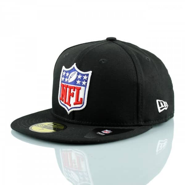 NFL Shield Logo 59FIFTY Fitted Football Cap Schwarz