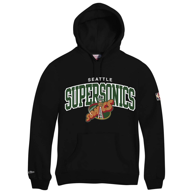 c8bc00a2 Seattle SuperSonics HWC Arch NBA Hoodie Sweatshirt