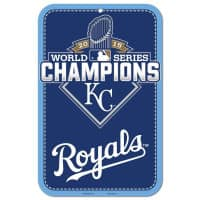 Kansas City Royals 2015 World Series Champions MLB Schild