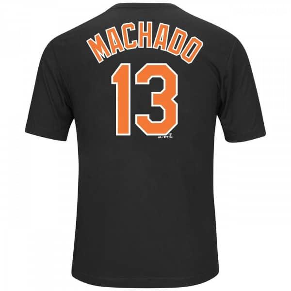 ae7e25dc1ce Majestic Manny Machado  13 Baltimore Orioles Player MLB T-Shirt Black