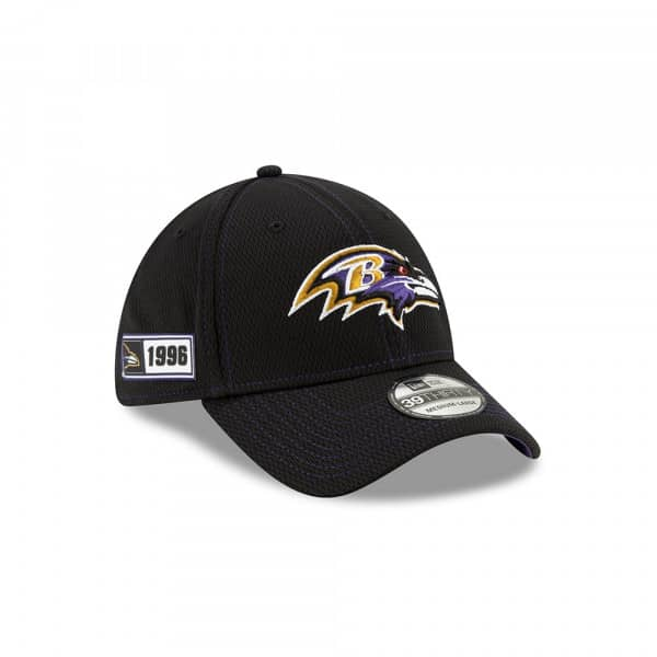 Baltimore Ravens 2019 NFL On-Field Sideline 39THIRTY Stretch Cap Road