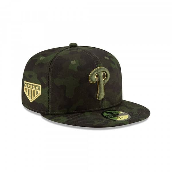 finest selection a1678 3633d New Era Philadelphia Phillies 2019 Armed Forces Day On-Field 59FIFTY Fitted  MLB Cap   TAASS.com Fan Shop