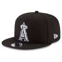 Los Angeles Angels Black & White New Era 9FIFTY Snapback MLB Cap