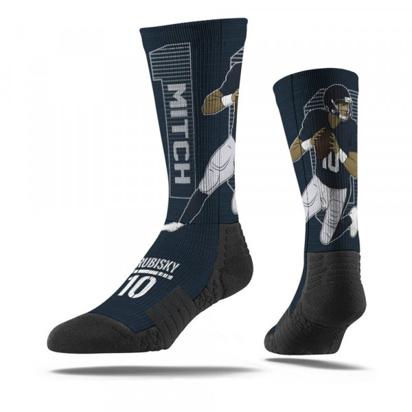 Mitchell Trubisky #10 Chicago Scramble NFL Socken