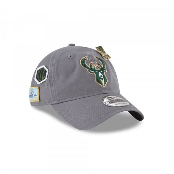 uk availability a219d f8388 New Era Milwaukee Bucks 2018 NBA Draft 9TWENTY Adjustable Cap Storm Grey    TAASS.com Fan Shop