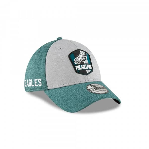 Philadelphia Eagles 2018 NFL Sideline 39THIRTY Flex Cap Road