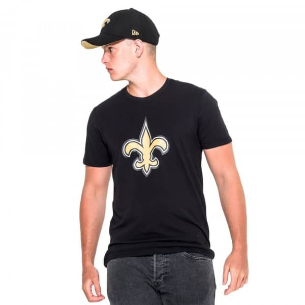 New Orleans Saints Team Logo Football NFL T-Shirt Schwarz