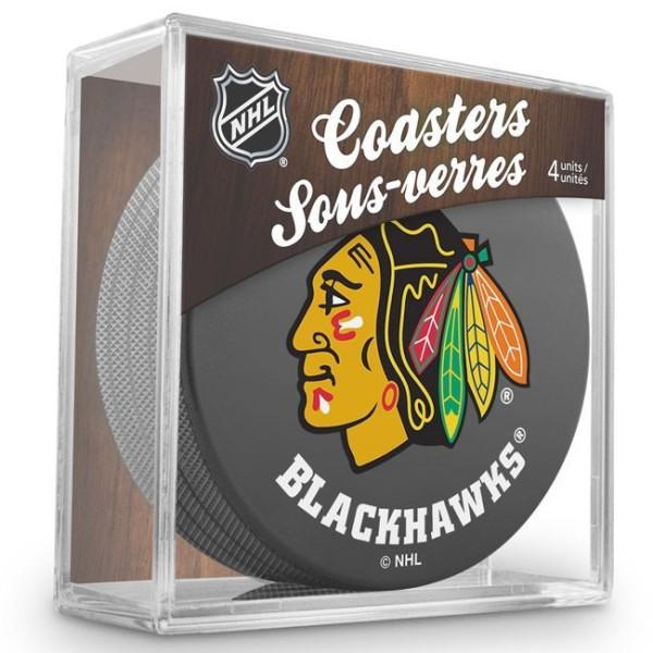 Chicago Blackhawks NHL Eishockey Puck Untersetzer (4er Set)