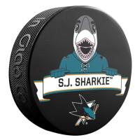 San Jose Sharks S.J. Sharkie Mascot NHL Souvenir Puck