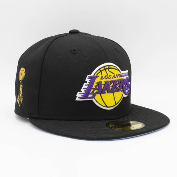 Los Angeles Lakers Trophy Patch New Era 59FIFTY Fitted NBA Cap Schwarz