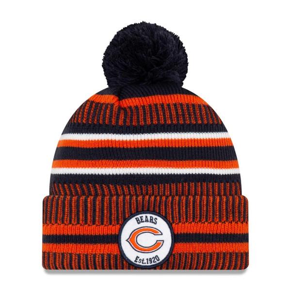 Chicago Bears 2019 NFL Sideline Sport Knit Wintermütze Home