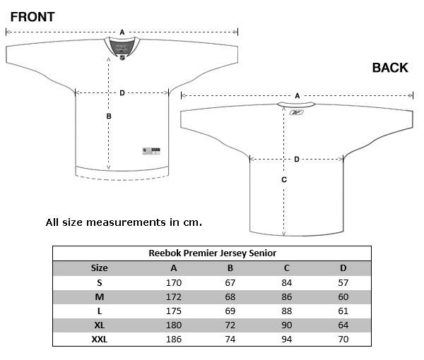 Size Chart NHL Jerseys (Senior) ...